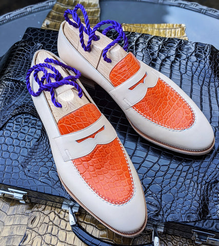 Ascot Sinatra - Orange Crocodile & Cream Crust
