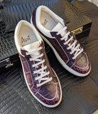 Ascot Sneakers - Purple Alligator - Ascot Shoes