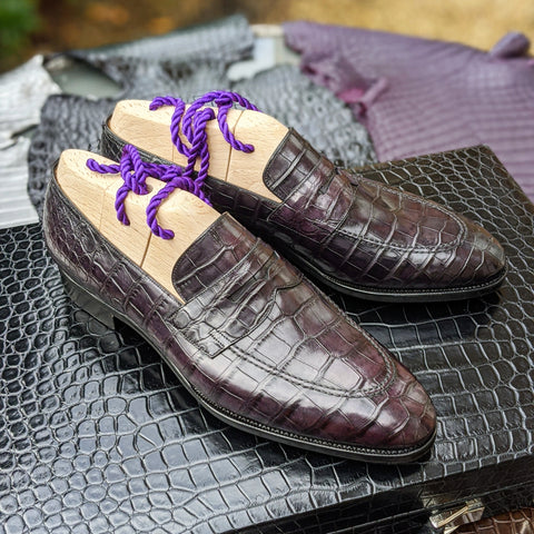 Ascot Loafer - Caviar Alligator