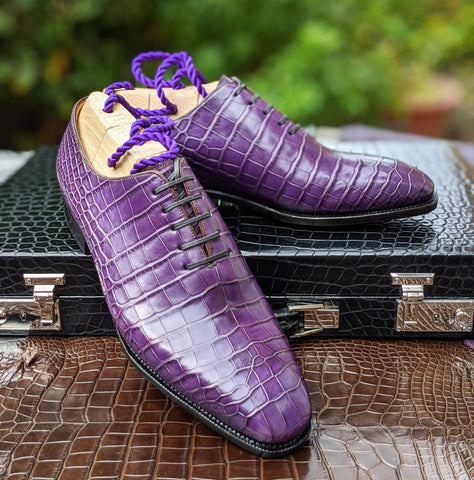 Ascot Wholecut - Mauve Alligator