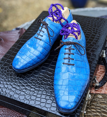 Ascot Wholecut - Blue Patina