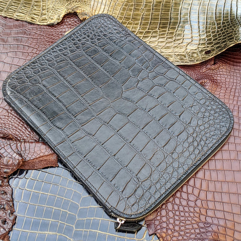Laptop Case - Black Crocodile