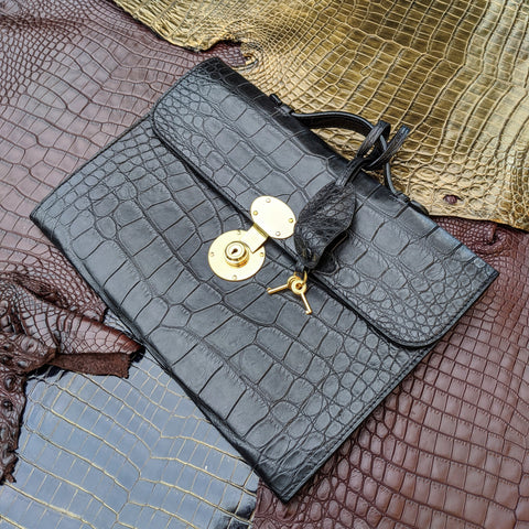 Folio Case - Black Crocodile