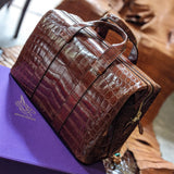 Weekender Bag - Bourbon Crocodile - Ascot Shoes