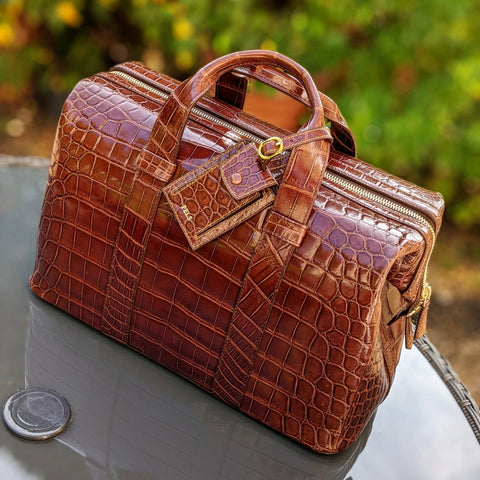 Weekender Bag - Bourbon Crocodile