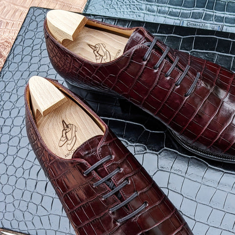 Ascot Wholecut - Brown Alligator
