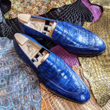 Ascot Sinatra - Blue Alligator - Ascot Shoes