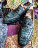 Ascot Sinatra - Green Alligator - Ascot Shoes