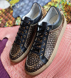 Ascot Sneakers - Gold Dust Python - Ascot Shoes
