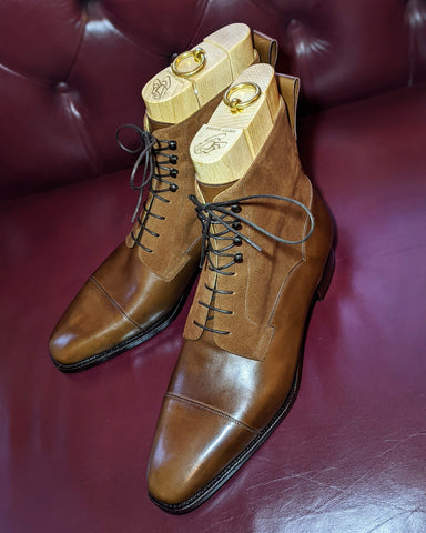 Ascot High Boots - Light Brown Calf & Light Brown Suede