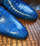 Ascot Chukka Boots - Jazz Blue Niloticus Crocodile - Ascot Shoes