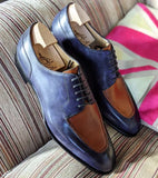 Ascot Kaan - Cognac Scotch Grain & Blue Museum Calf - Ascot Shoes
