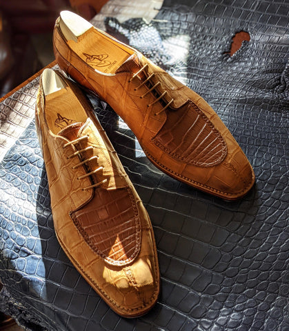Ascot Kaan - Tan Nubuck Alligator & Cognac Crocodile