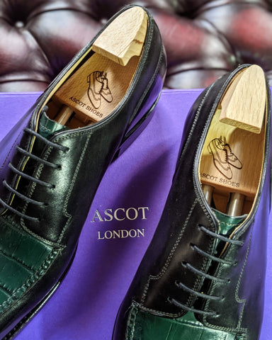 Ascot Kaan - Green Alligator & Black Calf