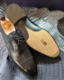 Vass Alt English - Black Calf, UK 10, F last - Ascot Shoes