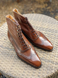 Vass Austerity Boots - Antique Cognac Calf, Uk 10, U last - Ascot Shoes