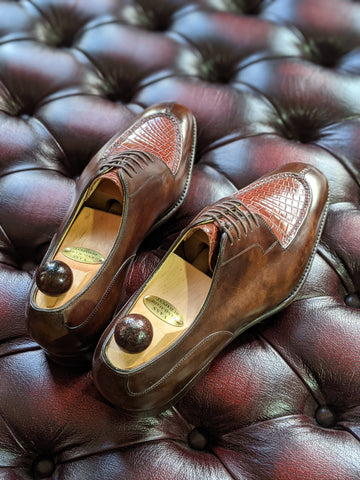 Ascot Kaan - Walnut Museum Calf & Cognac Crocodile, UK 9, U last