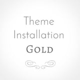 Theme Setup: Gold