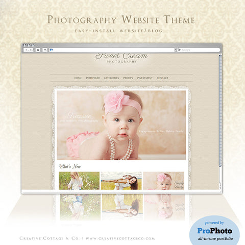 ProPhoto 4& 5 Theme- Sweet Cream