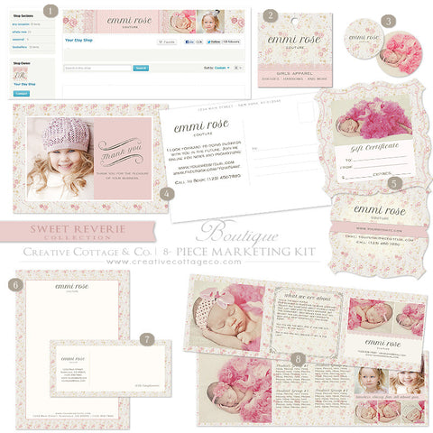 Etsy Boutique Marketing Kit- Sweet Reverie