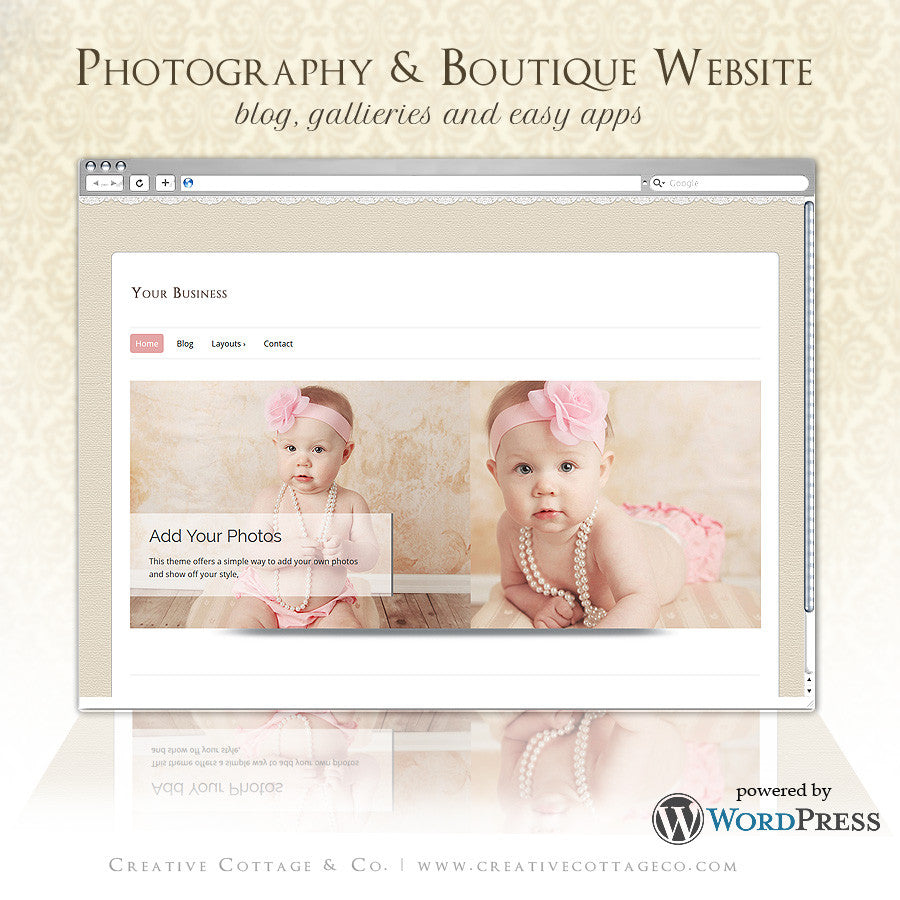 Wordpress Theme- Sweet Cream