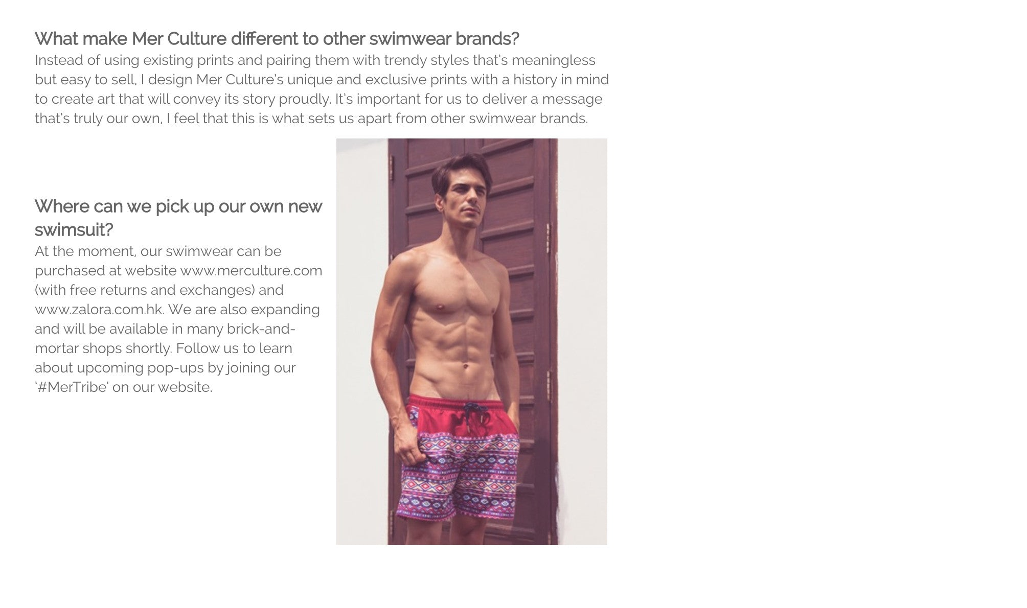 Faceslap! Hong Kong article | Press | Mer Culture swimwear | what makes us different