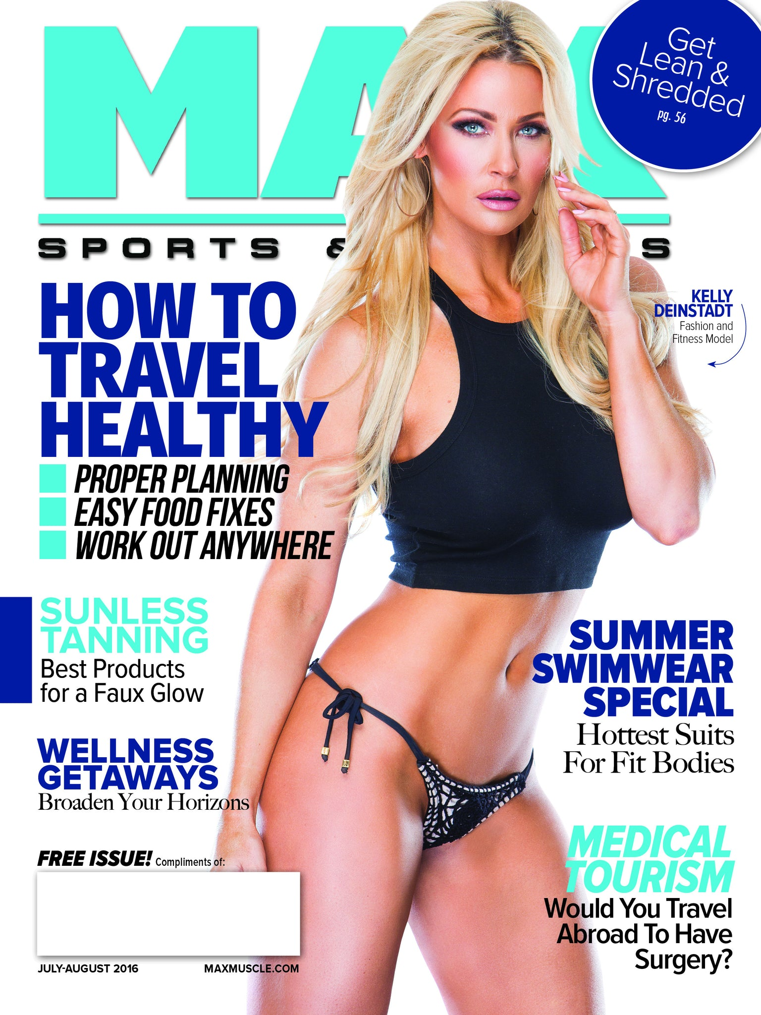 Max Sports & Fitness USA article | July 2016 | Press | Mer Culture swimwear | Cool Crochet, Girls of Summer