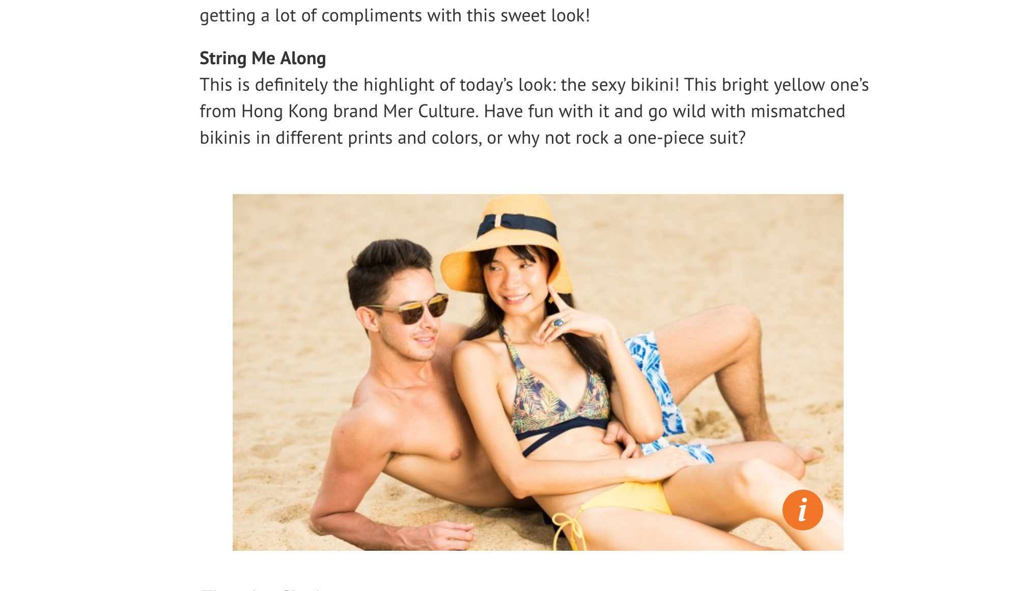 HK Magazine article | Press | Mer Culture swimwear | Hong Kong mismatched bikinis