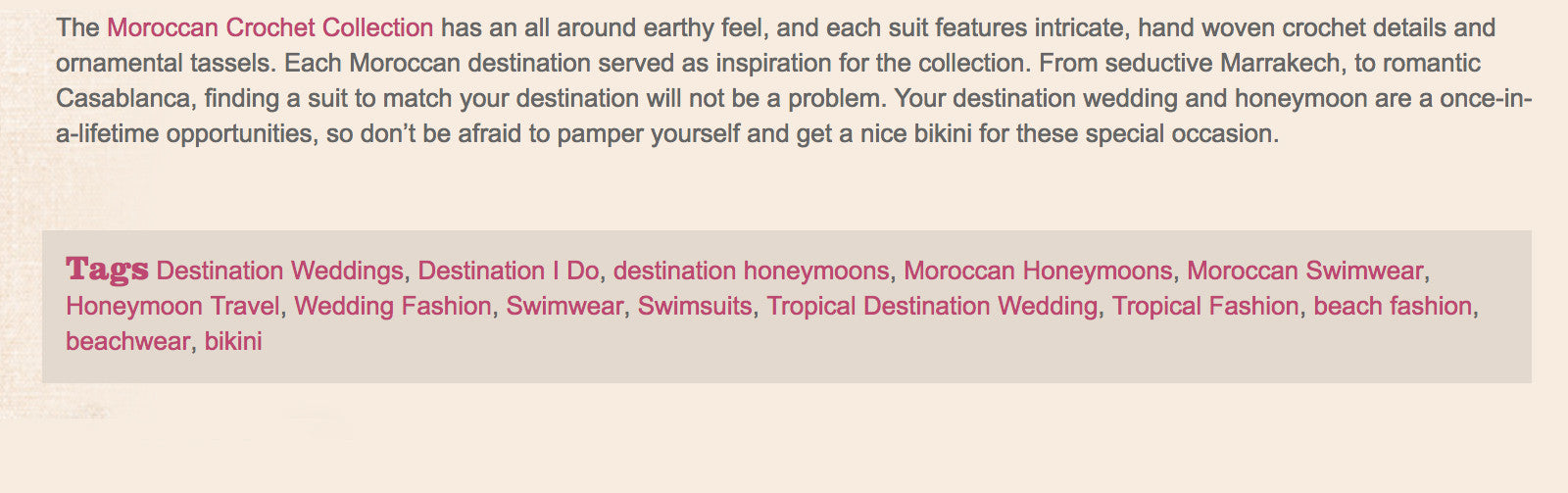 Destination I Do USA article | Press | Mer Culture swimwear | Honeymoon Worthy Bikinis