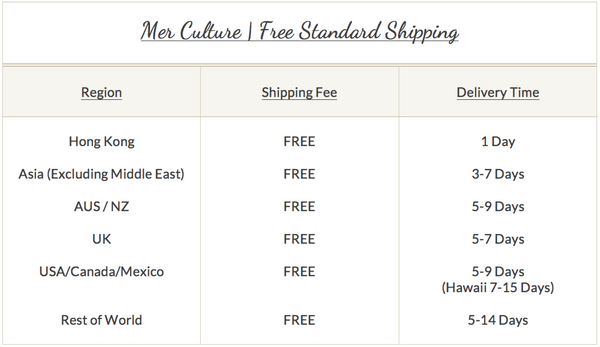 Mer Culture swimwear | Free standard shipping Worldwide