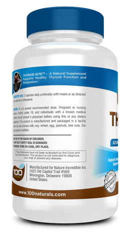 Thyroid Rite Natural Supplement