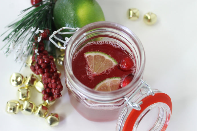 Have a Happy & Healthy Holidays with a Cranberry Lime Sparkler