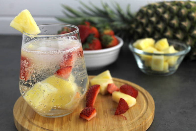 Time for Bubbly Fruits! Have a Strawberry Pineapple Sparkling Water