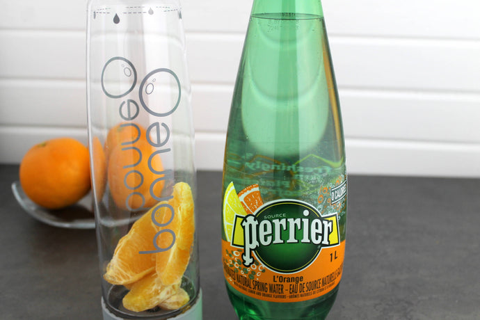 Homemade Orange Sparkling Water