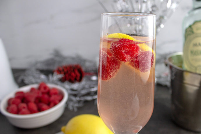 New Year's Eve Sparkling Raspberry Wine