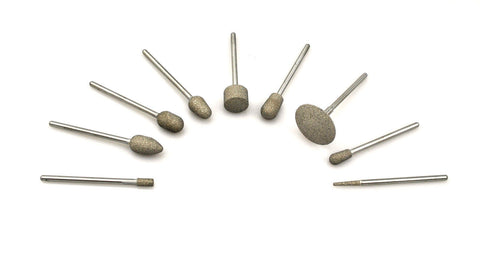Diamond Bonded Burs - 9 Different shapes