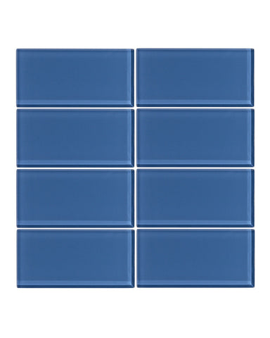 Denim 3x6 Glass Subway Tile