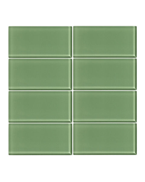 Pistachio 3x6 Glass Subway Tile