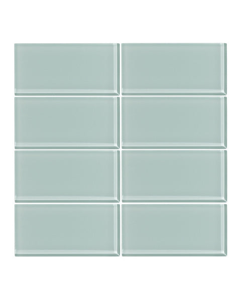 Seafoam 3x6 Glass Subway Tile