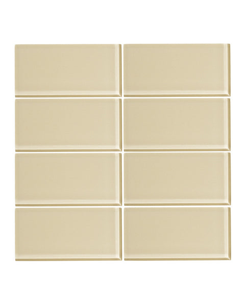Sandstone 3x6 Glass Subway Tile