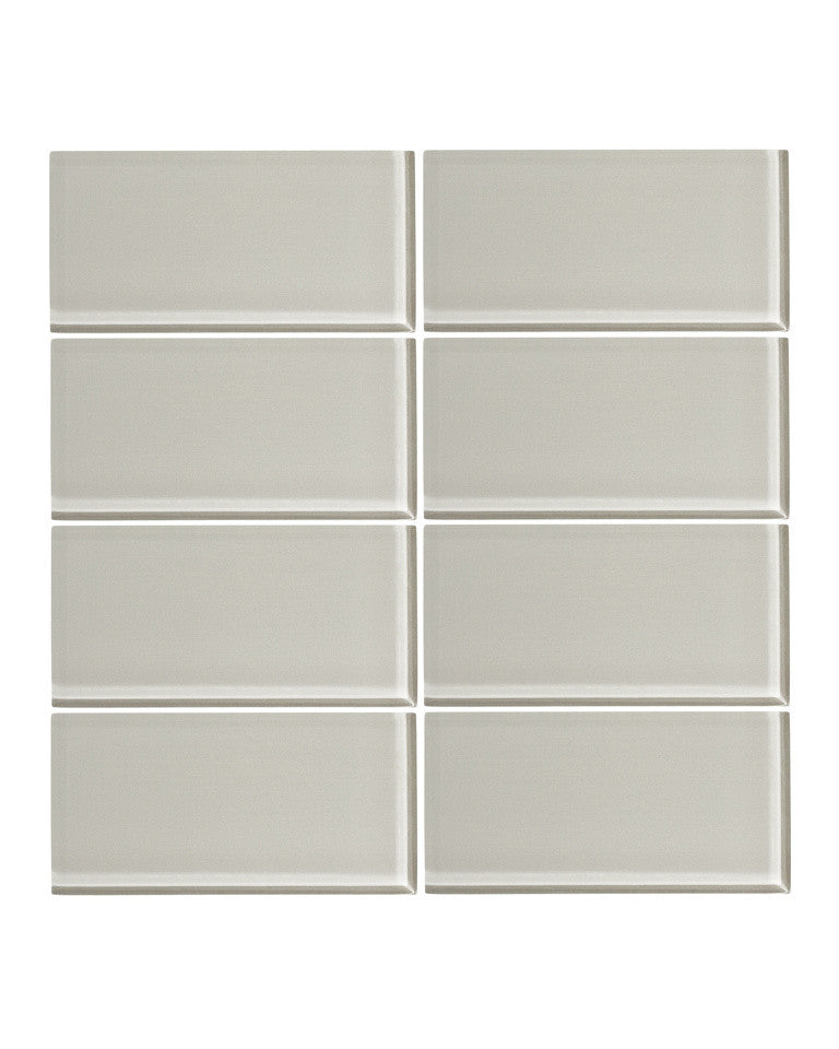 Cathedral Gray 3x6 Glass Subway Tile Vicci Design