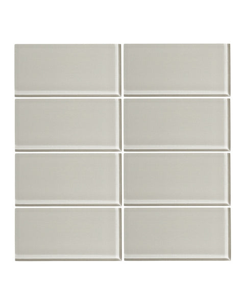 Cathedral Gray 3x6 Glass Subway Tile