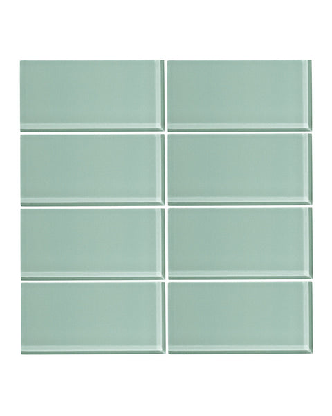 WinterMint 3x6 Glass Subway Tile