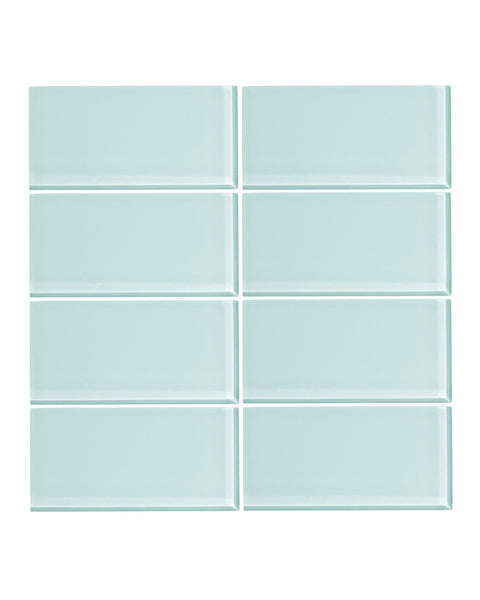 Spring Blue 3x6 Glass Subway Tile