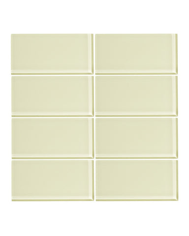 Lime Sorbet 3x6 Glass Subway Tile