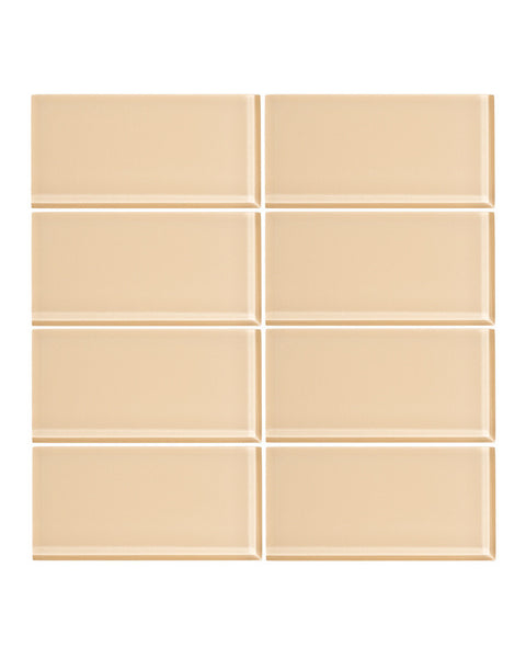 Creamsicle 3x6 Glass Subway Tile