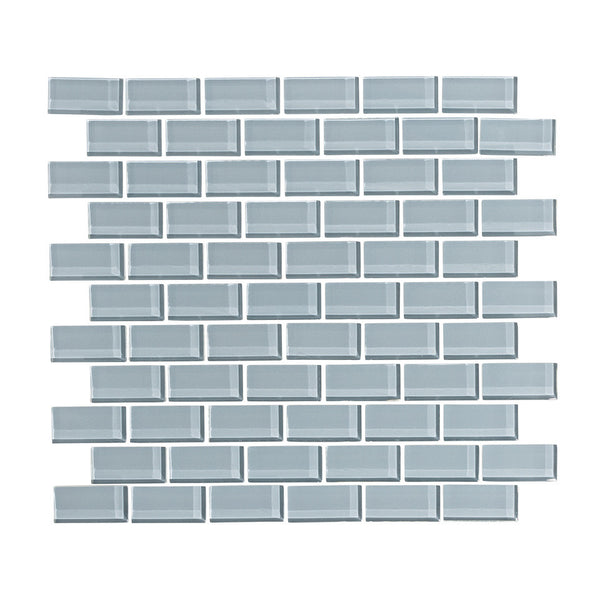 Cadet Gray 1x2 Glass Subway Tile Mosaic