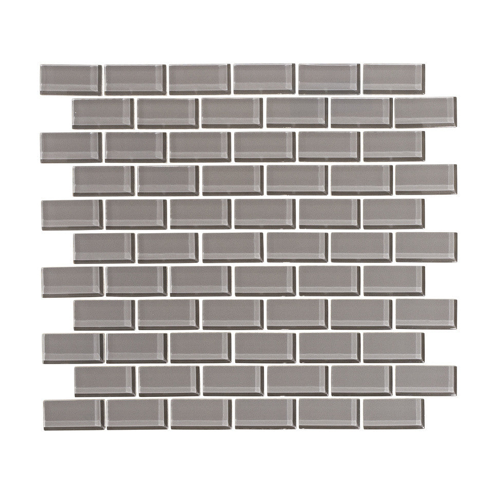 Taupe gray 1x2 glass subway tile mosaic vicci design taupe gray 1x2 glass subway tile mosaic dailygadgetfo Image collections
