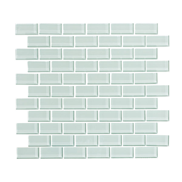 Seafoam 1x2 Glass Subway Tile Mosaic