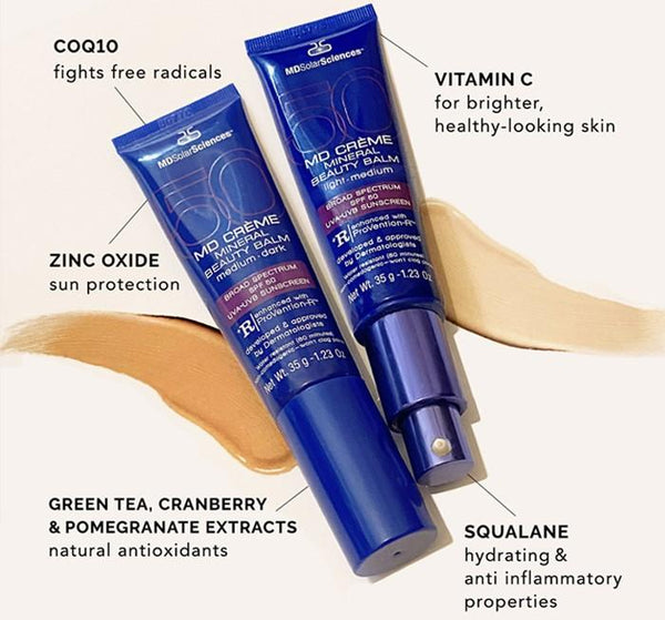 MD Crème Mineral Beauty Balm SPF 50 sunrepair MDSolarSciences™